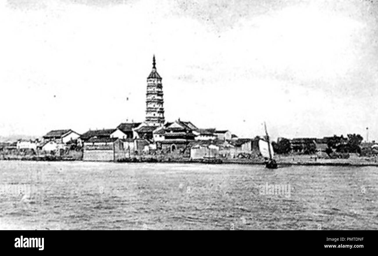 Blick auf Kiukiang. - Stock Image