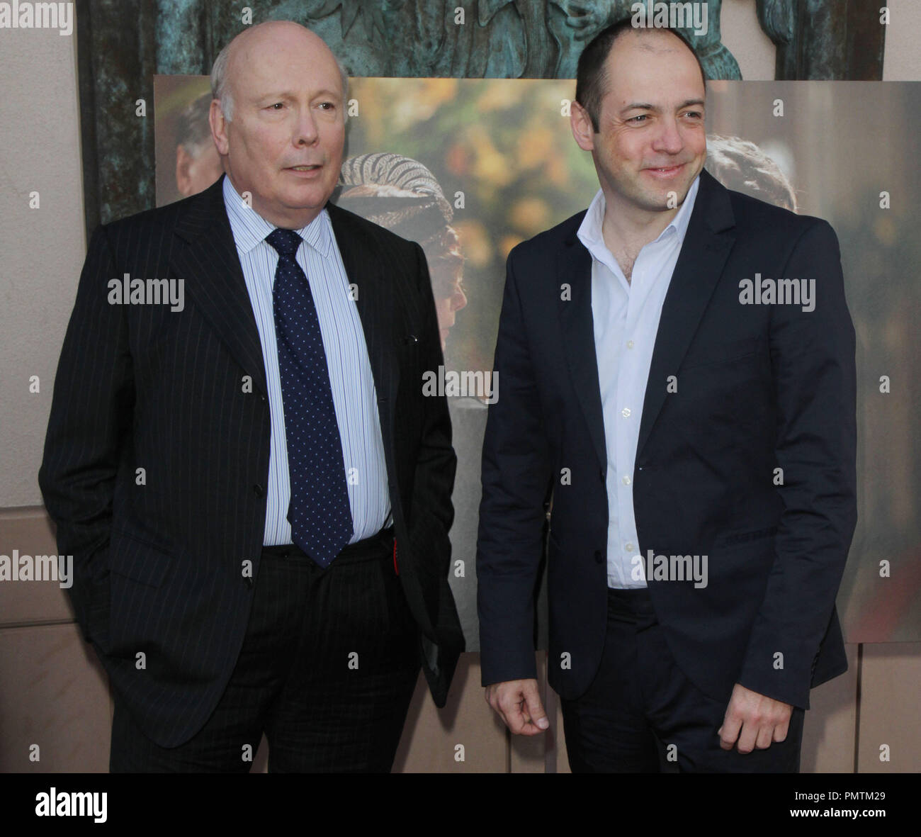 Julian Fellowes & Gareth Neame attends An Evening With 'Downton Abbey' held at the Leonard H. Goldenson Theatre in North Hollywood, CA. The event took place on Monday, June 10, 2013.  Photo by Steven Lam_PRPP / PictureLux  File Reference # 31990_042PRPPSL  For Editorial Use Only -  All Rights Reserved - Stock Image