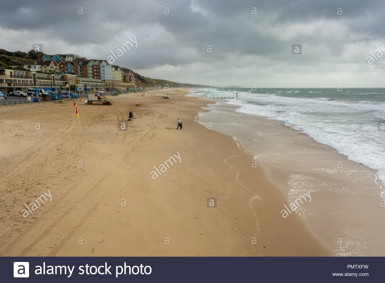 Boscombe, Bournemouth, Dorset, England, UK, September 2018, Weather: Storm Ali, the first named storm of the autumn, brings strong winds to the south coast in the afternoon. - Stock Image