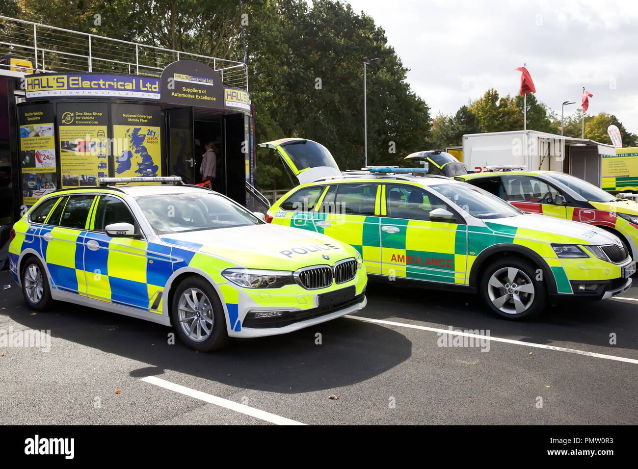 Birmingham,UK,19th September 2018,The Emergency Services Show takes place at the NEC in Birmingham. It runs for 2 days and offers ALL emergency workers a great place to network and learn with over 450 Exhibitors and many service vehicles on display inside and outdoors. There are also many free seminars covering different subjects, all in all a interesting and educational day out. Credit: Keith Larby/Alamy Live News Stock Photo