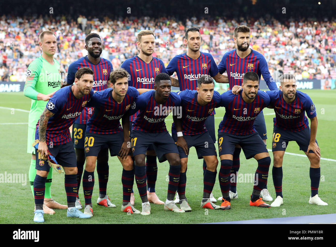7b7d90a54c2 Barcelona Team Pose Stock Photos   Barcelona Team Pose Stock Images ...