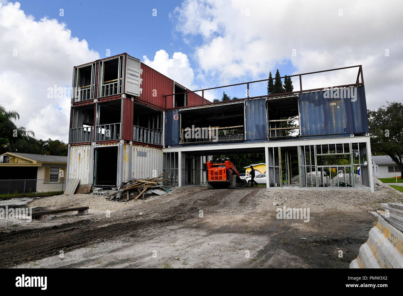 Shipping Container House High Resolution Stock Photography And Images Alamy