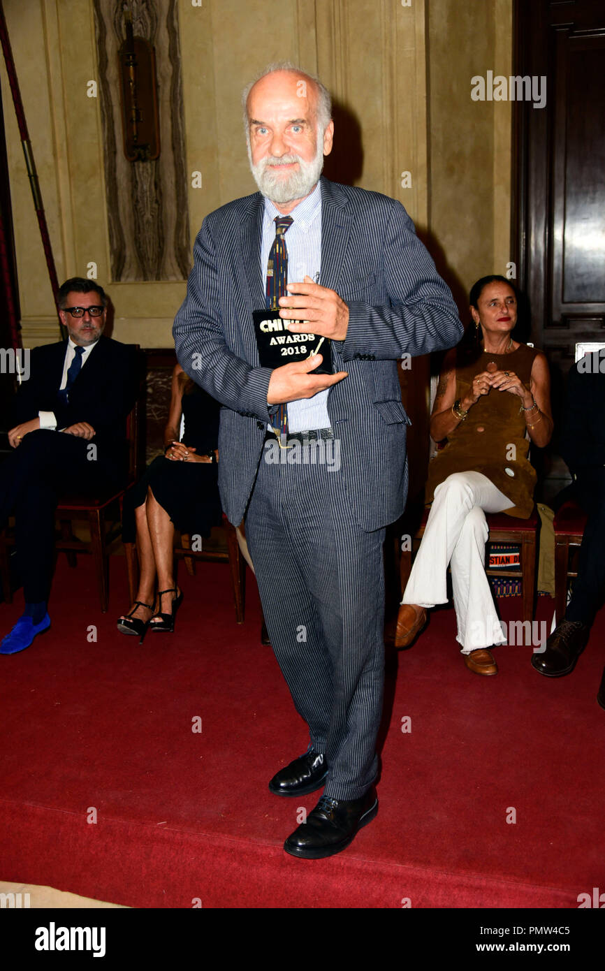 Milan, Italy. 19th Sep, 2018. Milan, 'Who's who' award. in the picture: Barnaba Fornasetti Credit: Independent Photo Agency/Alamy Live News - Stock Image