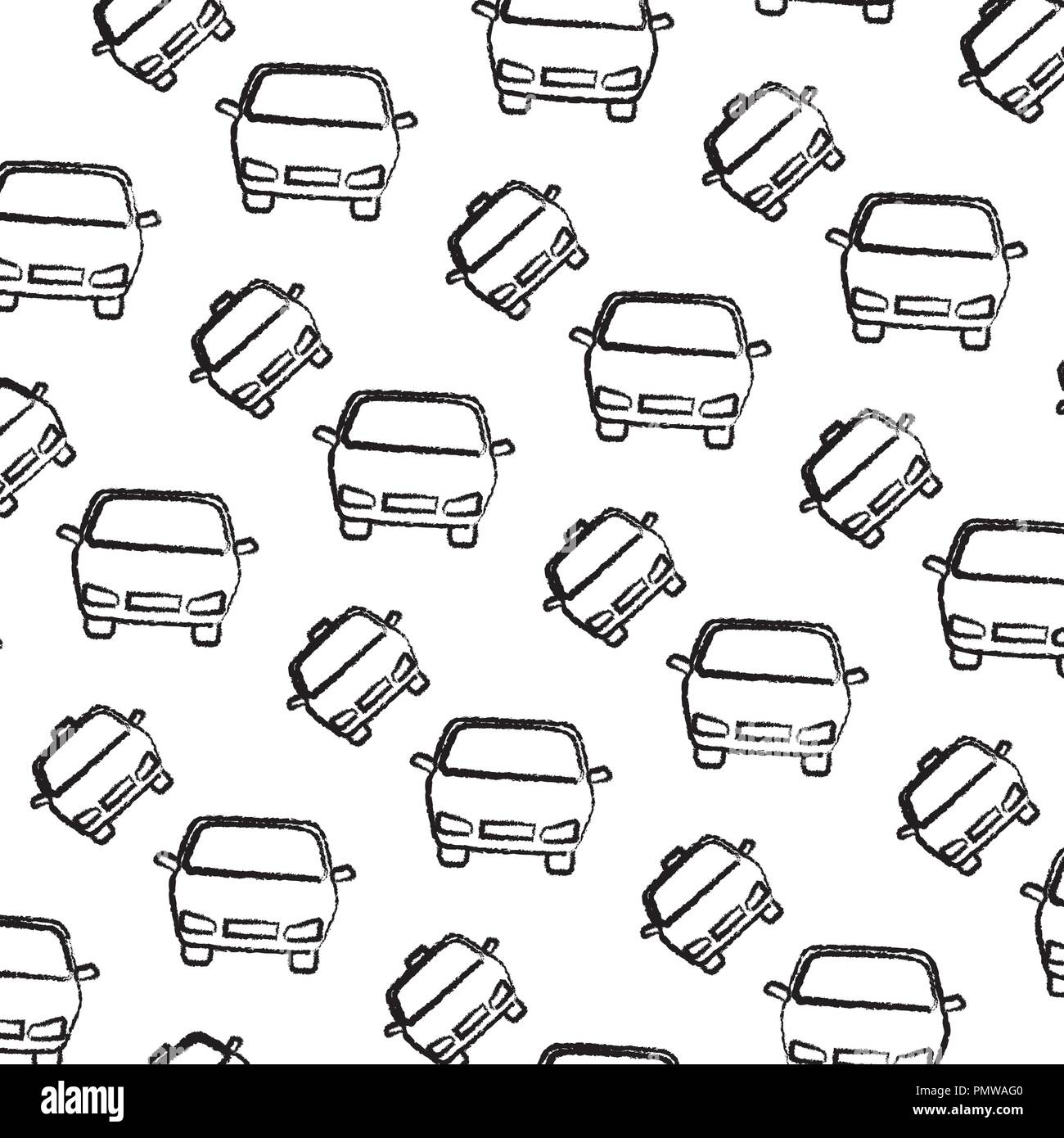 passenger cars black and white stock photos images alamy New Cool Cars taxi and cars pattern stock image