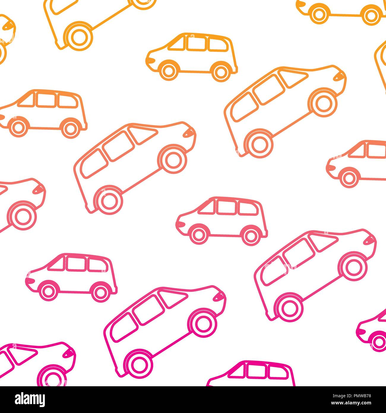 cars vehicles pattern background Stock Vector