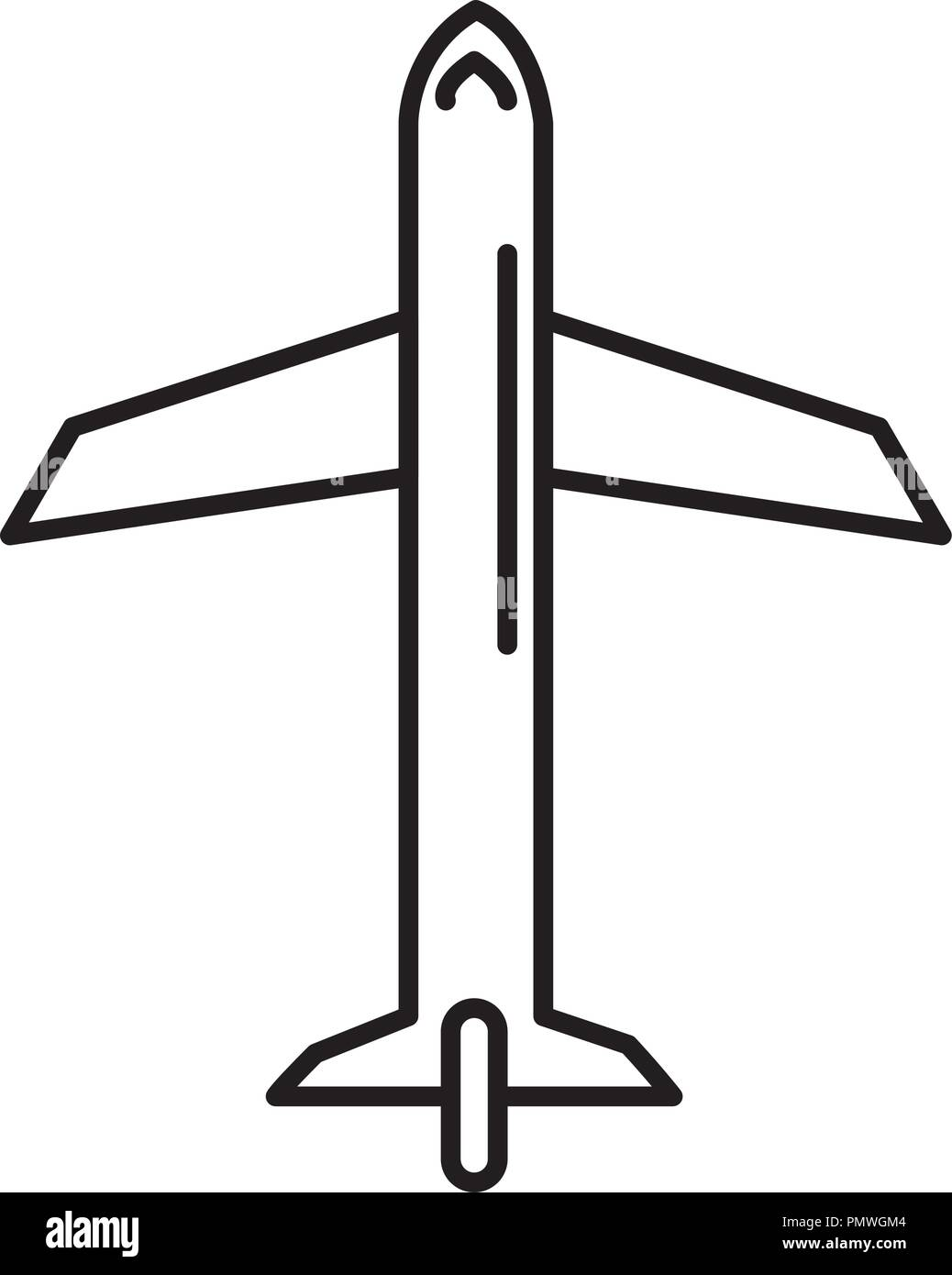 airplane flying isolated icon - Stock Image