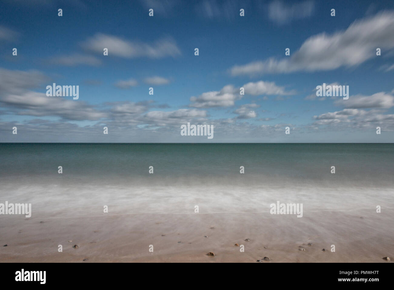 The North Sea in slow motion, Eccles, Norfolk, UK Stock Photo