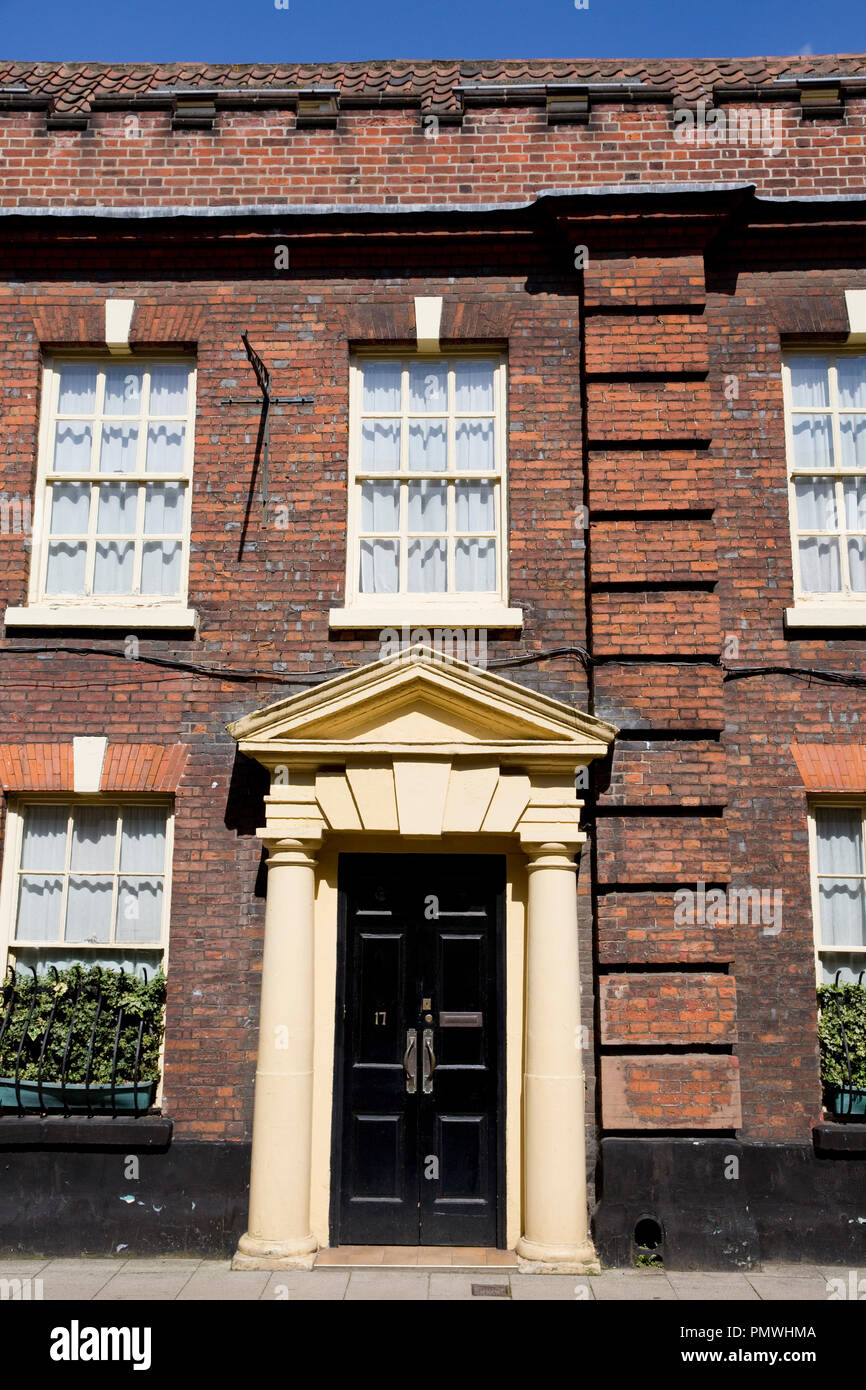 Georgian-style terraced house front in St Giles Street, Norwich, Norfolk - Stock Image