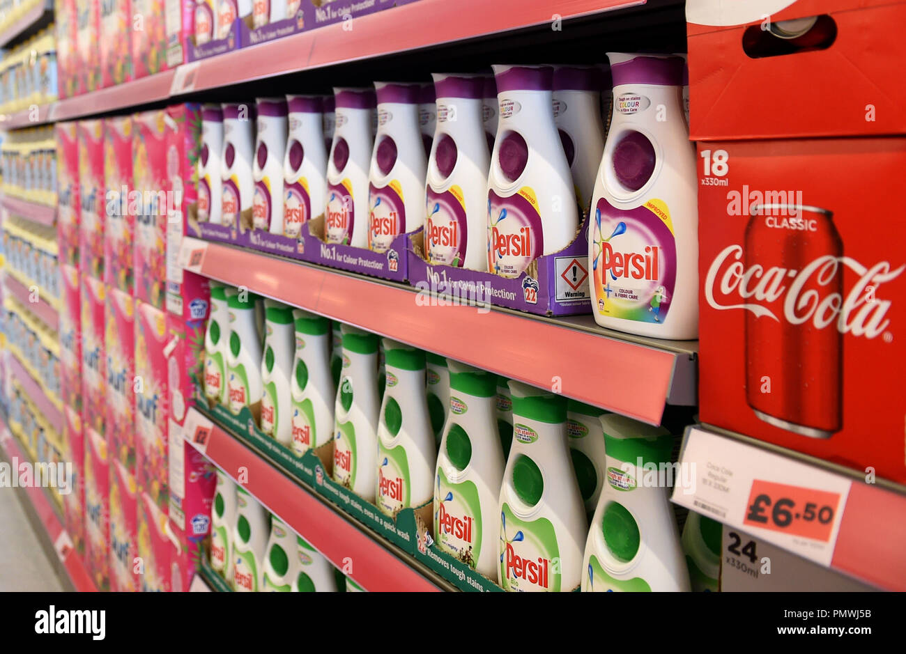 Brand name products on the shelves as Tesco unveils its new