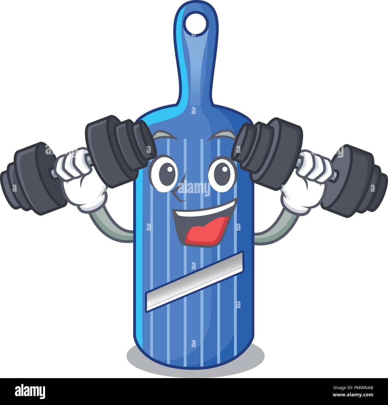 Fitness Cut Food On Mandolin Slicer Cartoon Stock Vector Art