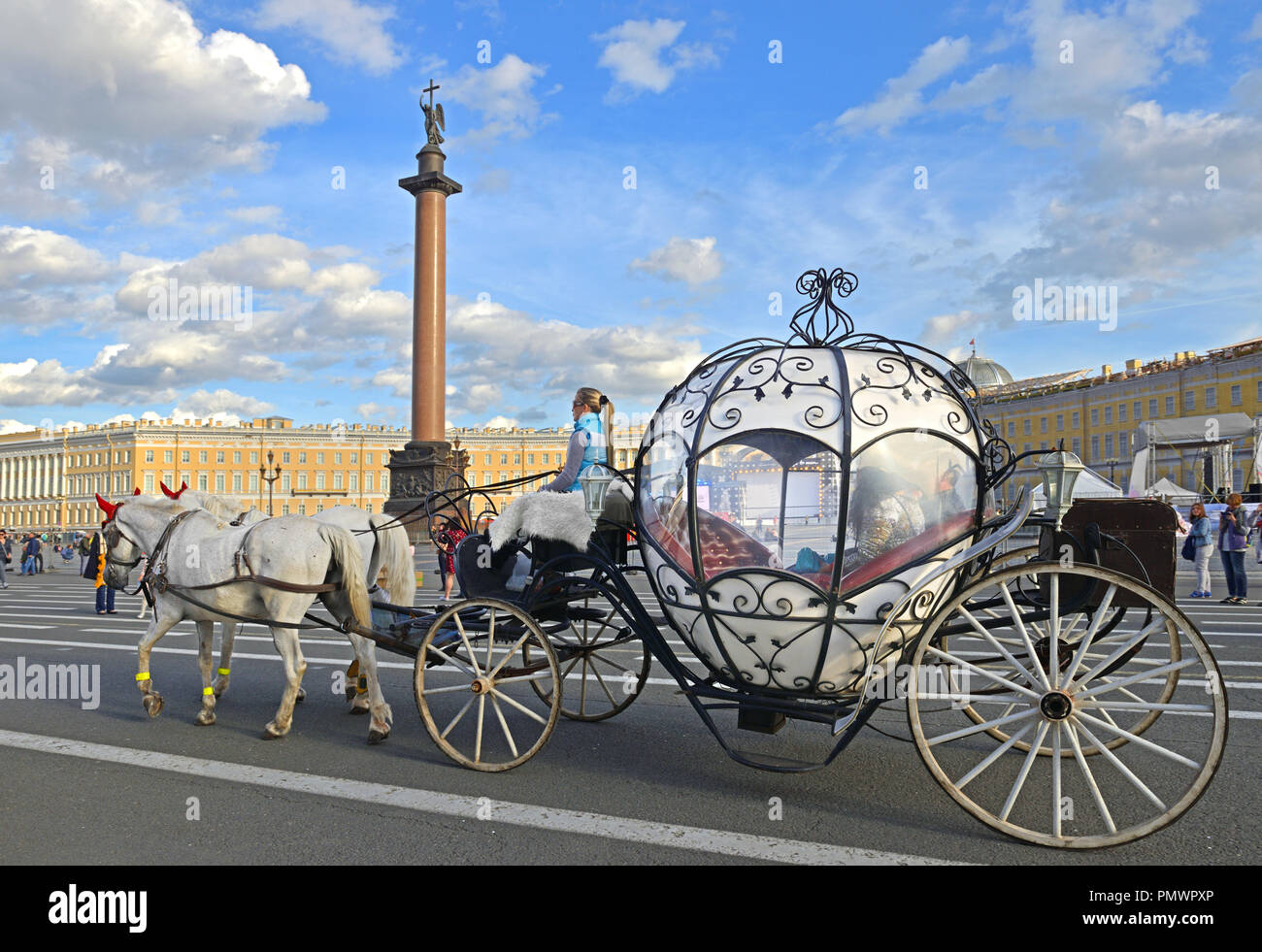 Magic Carriage at Palace Square - Stock Image