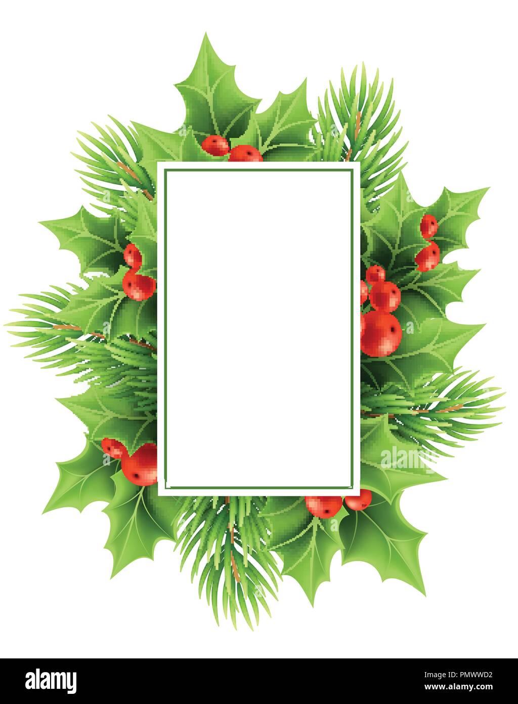 Christmas Greeting Card Vector Template Stock Vector Art