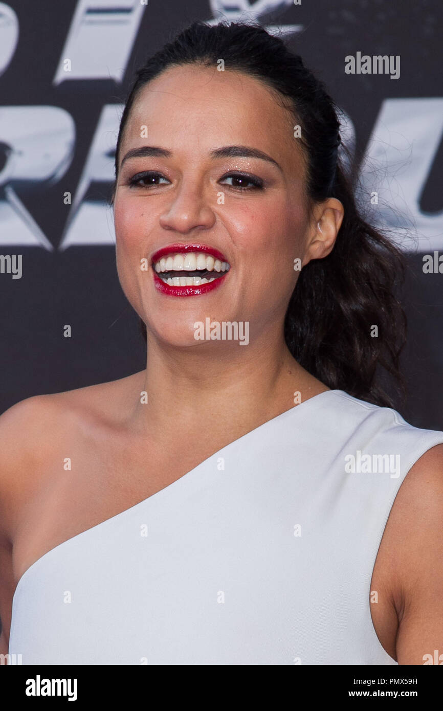 Michelle Rodriguez arrives at the premiere of Universal Pictures' 'Fast & Furious 6' at Gibson Amphitheatre on May 21, 2013 in Universal City, California. Photo by Eden Ari / PRPP / PictureLux  File Reference # 31967 114PRPPEA  For Editorial Use Only -  All Rights Reserved Stock Photo