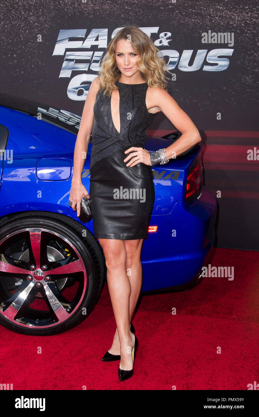 Shantel VanSanten arrives at the premiere of Universal Pictures' 'Fast & Furious 6' at Gibson Amphitheatre on May 21, 2013 in Universal City, California. Photo by Eden Ari / PRPP / PictureLux  File Reference # 31967 120PRPPEA  For Editorial Use Only -  All Rights Reserved Stock Photo