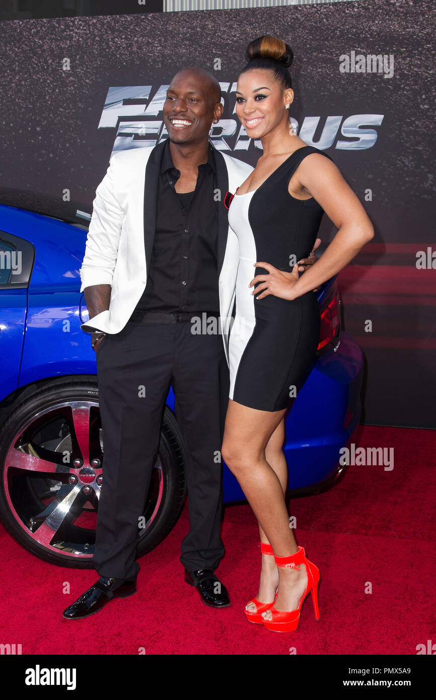 Tyrese Gibson arrives at the premiere of Universal Pictures' 'Fast & Furious 6' at Gibson Amphitheatre on May 21, 2013 in Universal City, California. Photo by Eden Ari / PRPP / PictureLux  File Reference # 31967 127PRPPEA  For Editorial Use Only -  All Rights Reserved Stock Photo