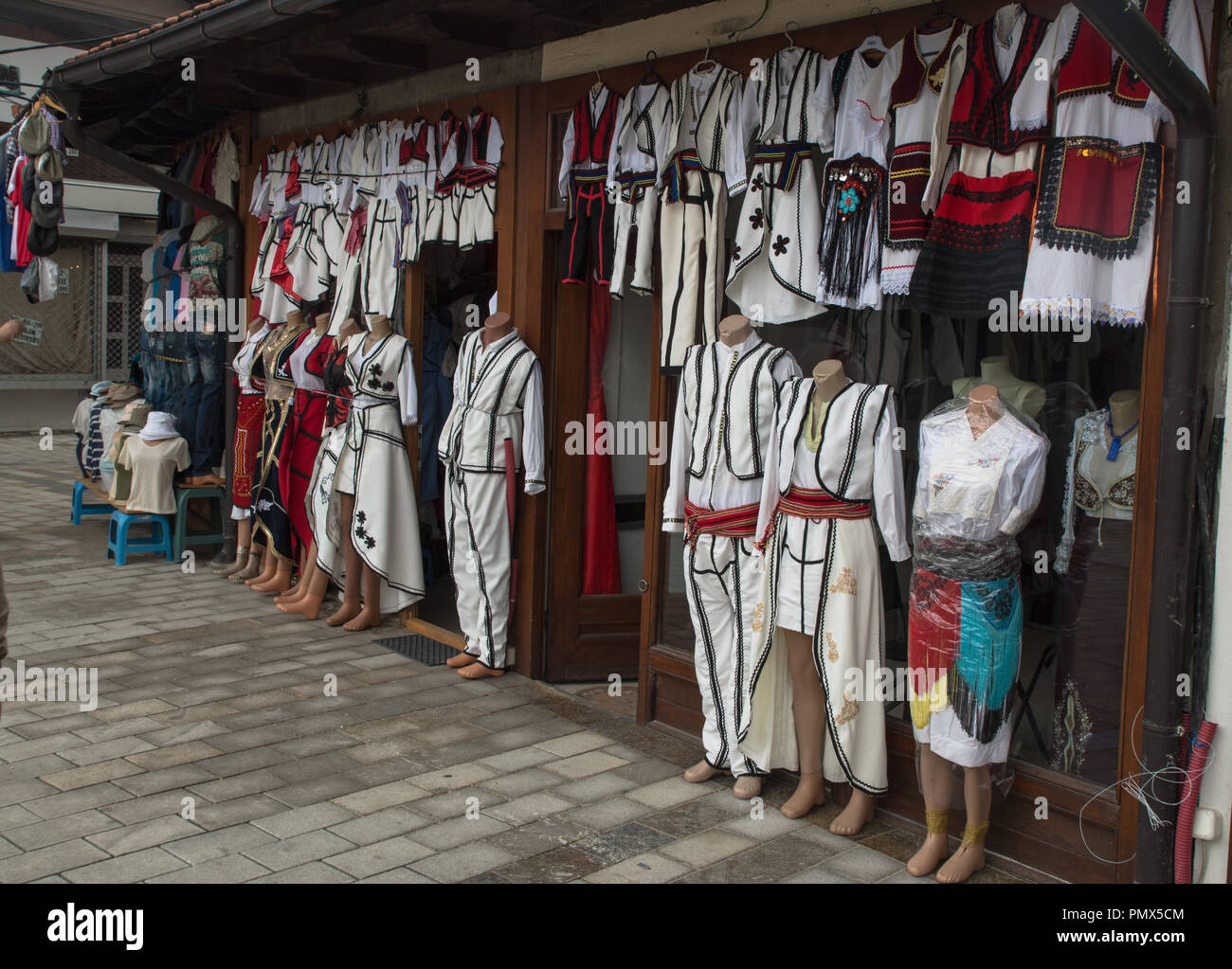 Albanien traitionell costumes - Stock Image