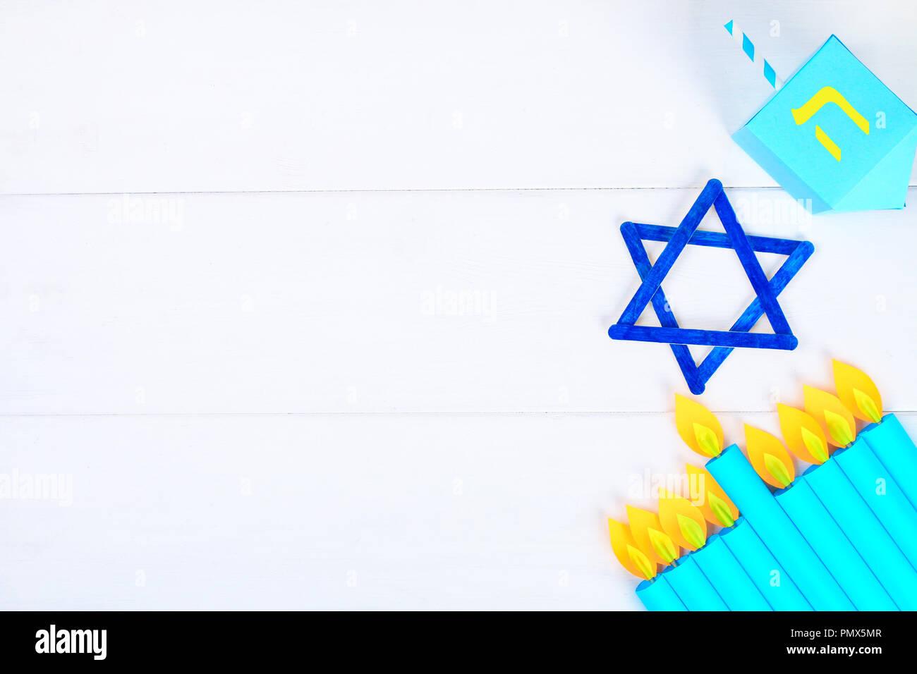 Menorah Dreidel Sevivon The Star Of David With Their Own Hands On