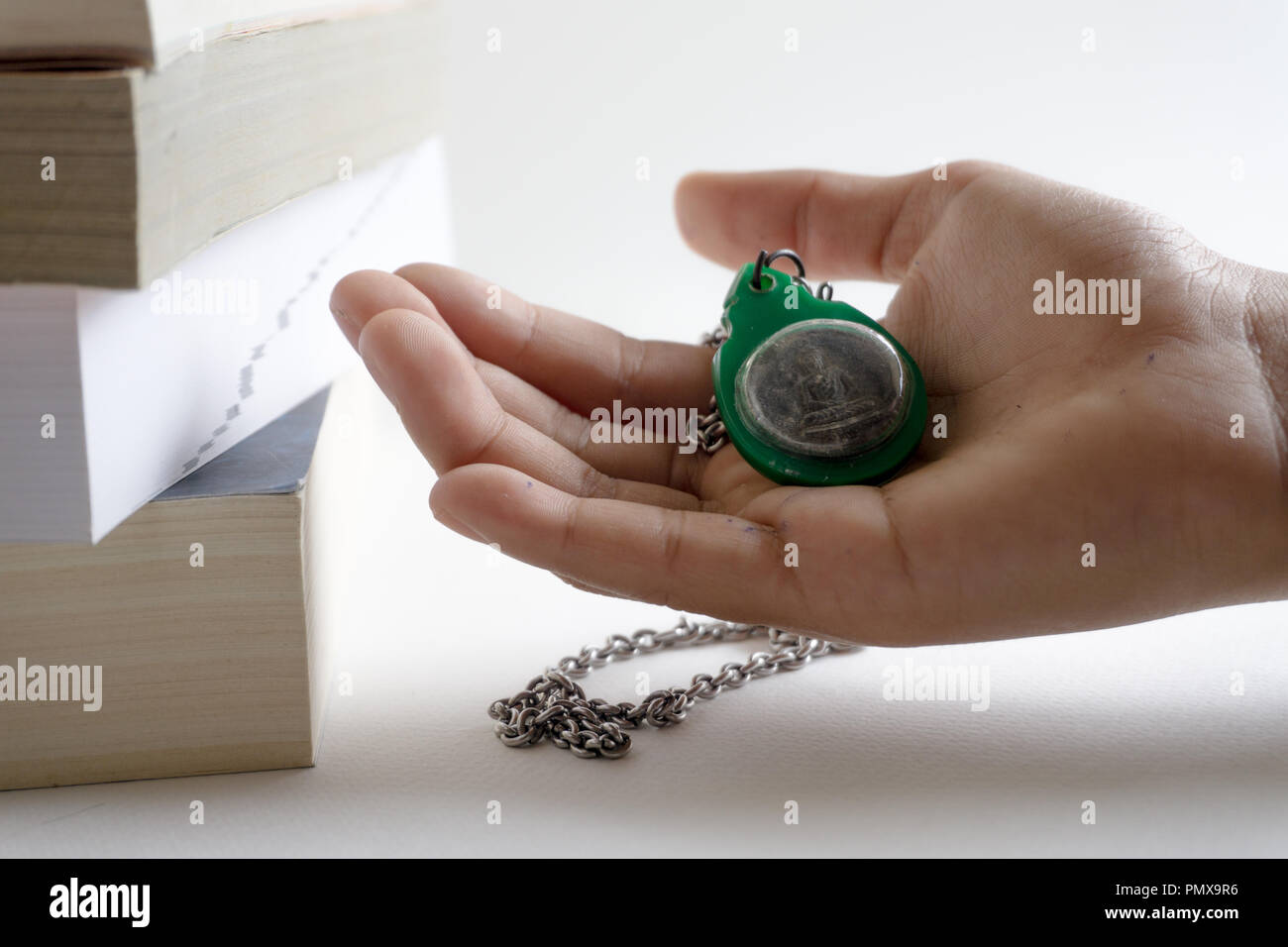 Pass on the concern by giving the sacred things protection - Stock Image