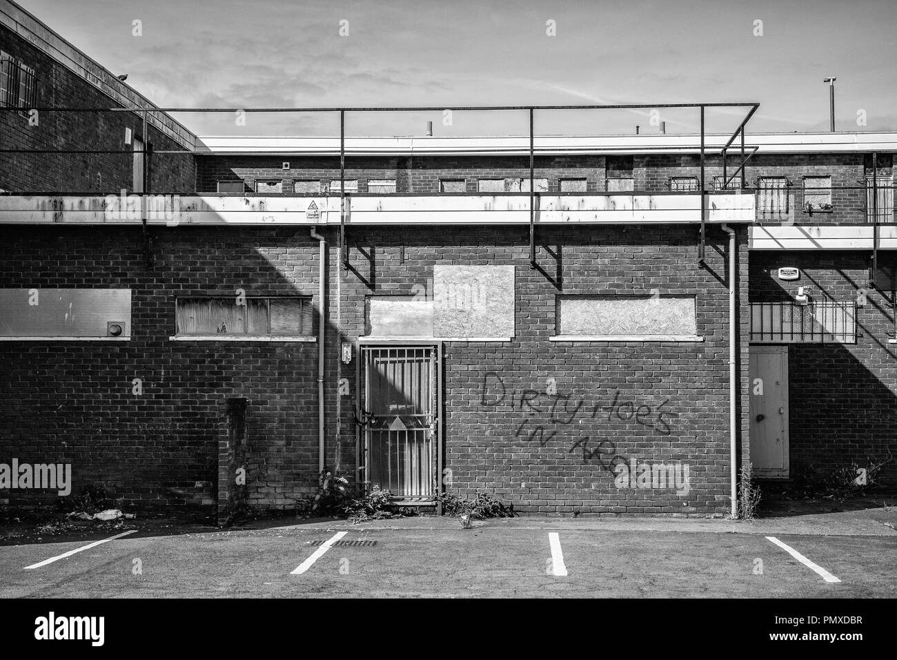 Freeman street and surrounding streets earmarked for regeneration.Grimsby N.E Lincolnshire England UK - Stock Image