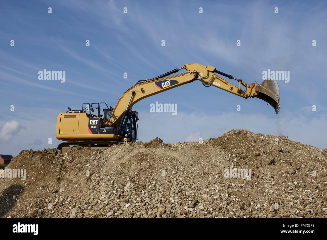 Caterpillar Hydraulic Excavator Stock Photos & Caterpillar