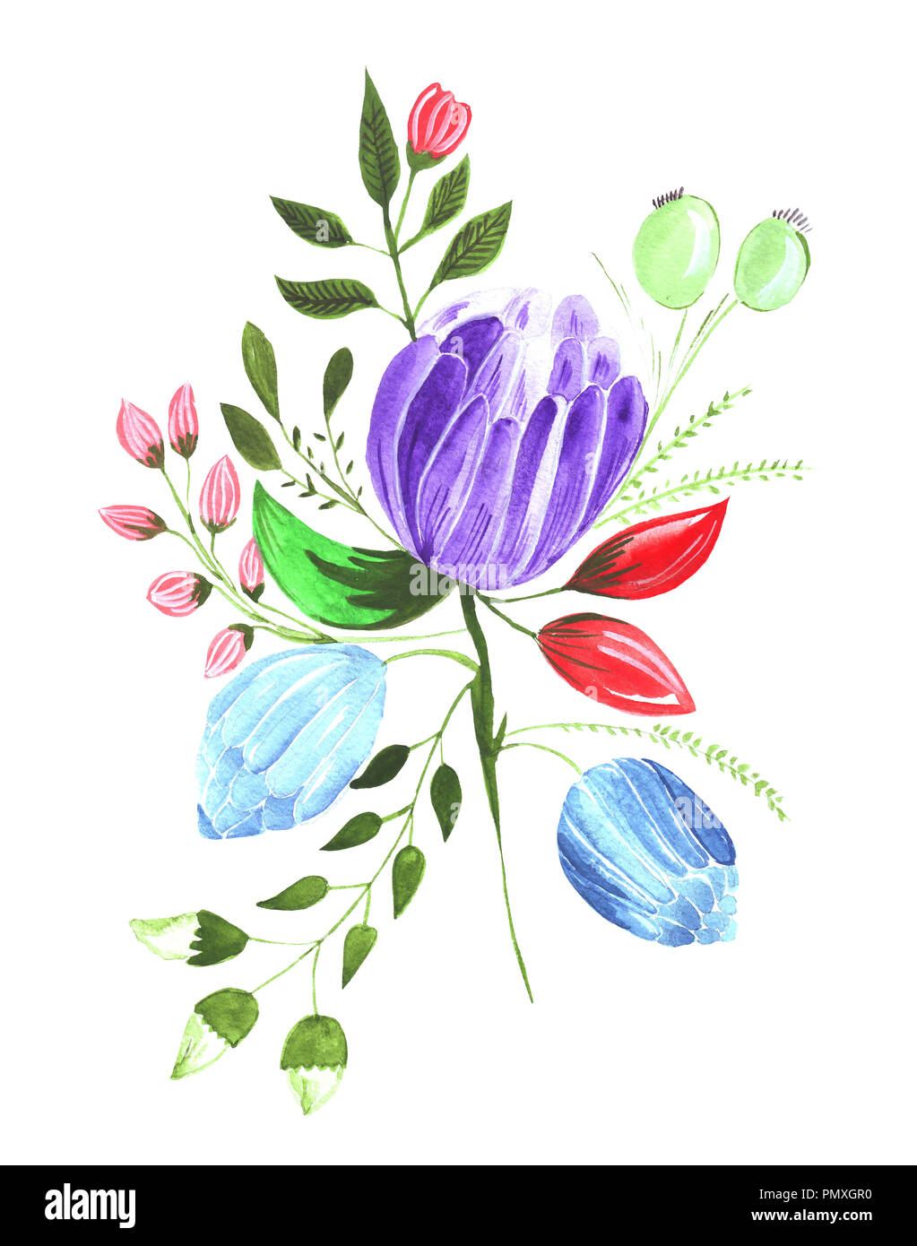 Pencil Drawing Flowers Cut Out Stock Images Pictures Alamy