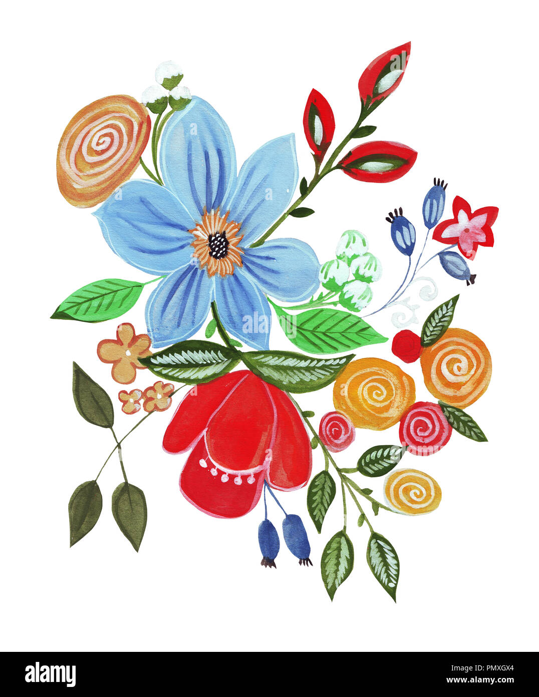 Illustration of pencil drawing bouquet flowers in bright colors for illustration of pencil drawing bouquet flowers in bright colors for various types of isolated izmirmasajfo