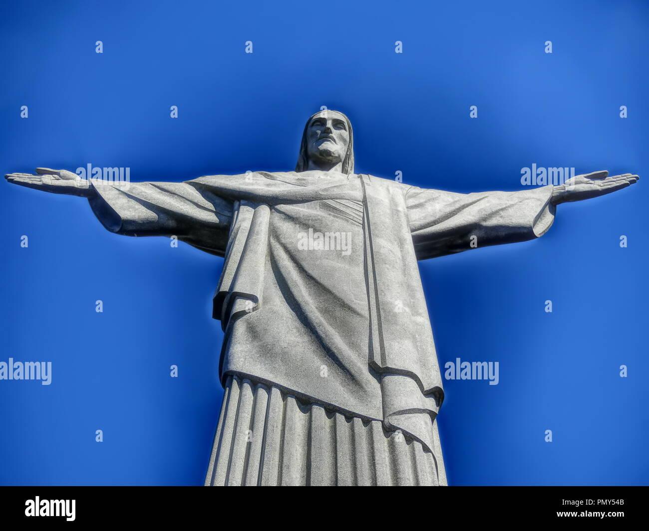 Christ The Redeemer of Rio de Janeiro Stock Photo