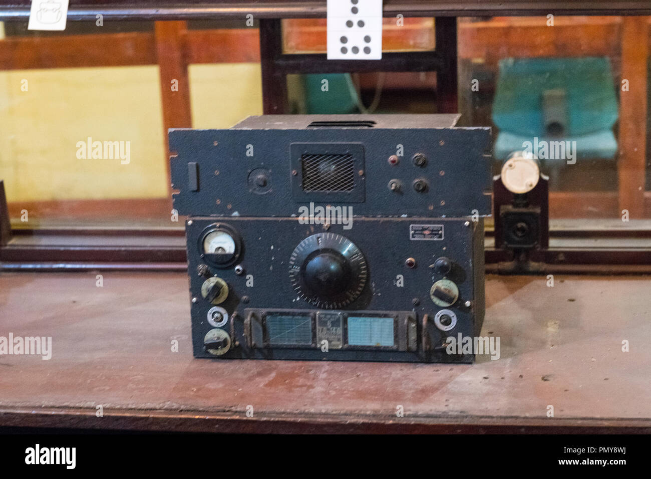Liverpool Exchange Flags Western Approaches HQ WWII Second World War Derby House museum bunker Citadel Fortress Citadel or Fortress radio receiver Stock Photo