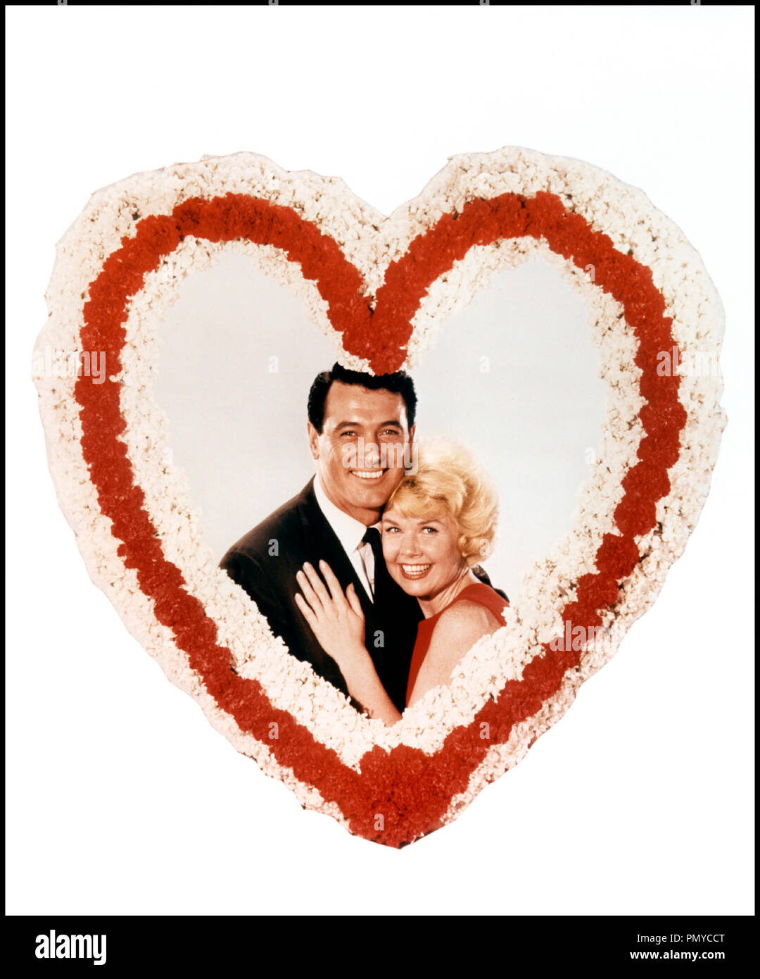Prod DB © Universal / DR CONFIDENCES SUR L'OREILLER (PILLOW TALK) de Michael Gordon 1959 USA avec Rock Hudson et Doris Day couple amoureux, coeur, cliché, romantique - Stock Image