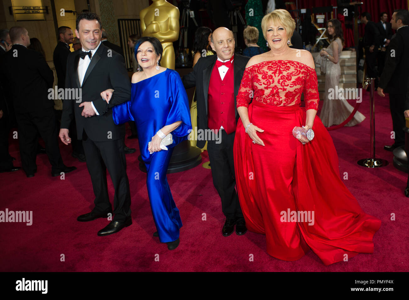 Liza Minnelli and guests arrive for the live ABC Telecast of The 86th Oscars® at the Dolby® Theatre on March 2, 2014 in Hollywood, CA.  File Reference # 32268_120  For Editorial Use Only -  All Rights Reserved - Stock Image