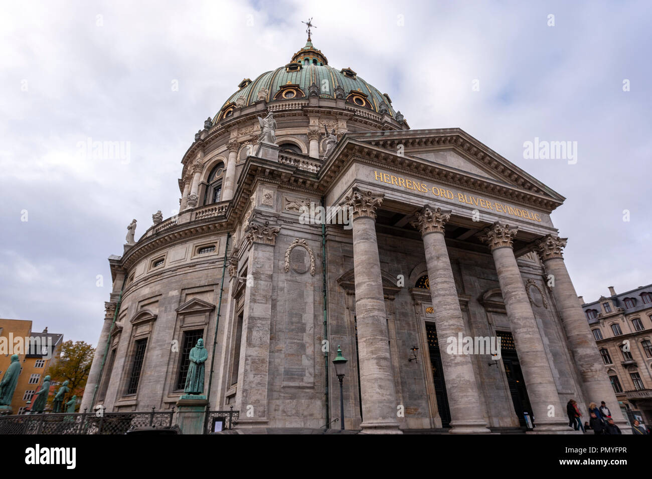 Frederik's Church Front entrance and dome Copenhagen, Denmark - Stock Image