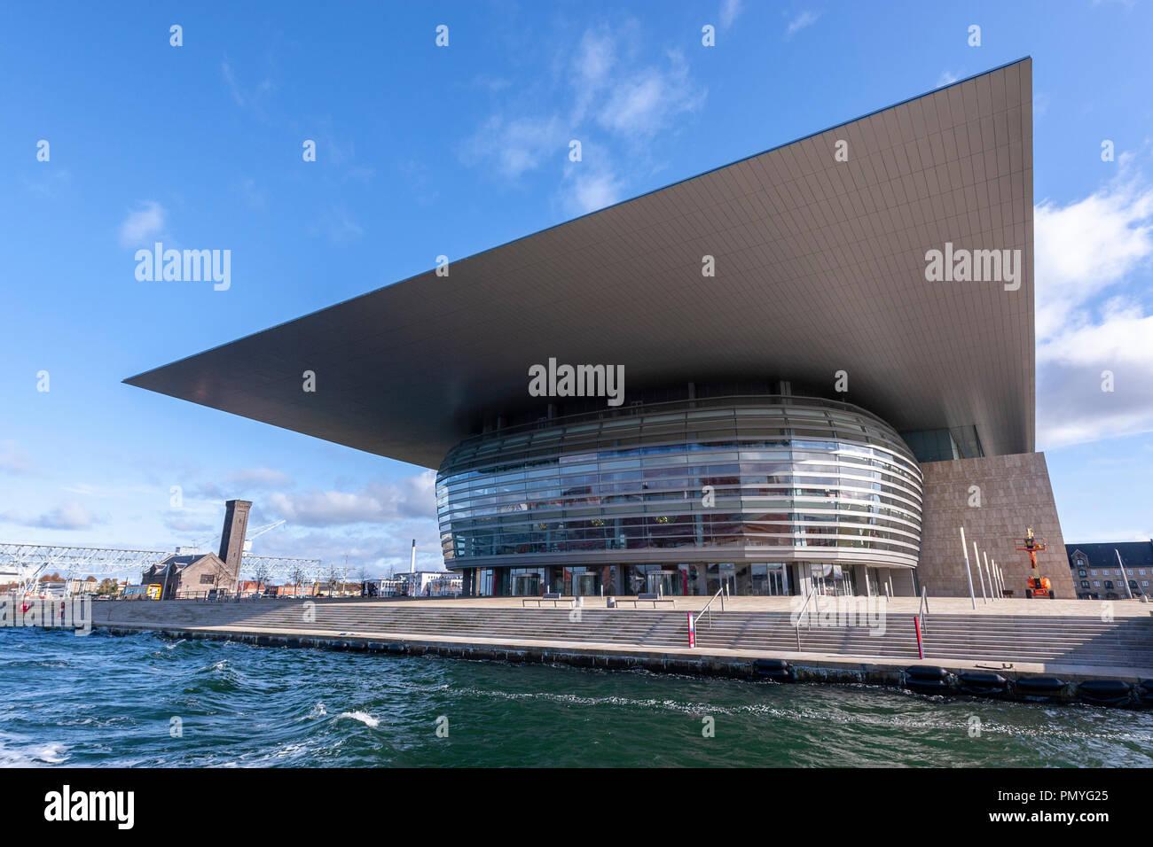 Copenhagen Opera House, Architect Henning Larsen, from Københavns Havn, Copenhagen, Denmark Stock Photo