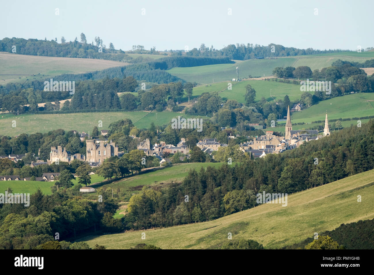 The town Selkirk in the Scottish Borders, Scotland. - Stock Image
