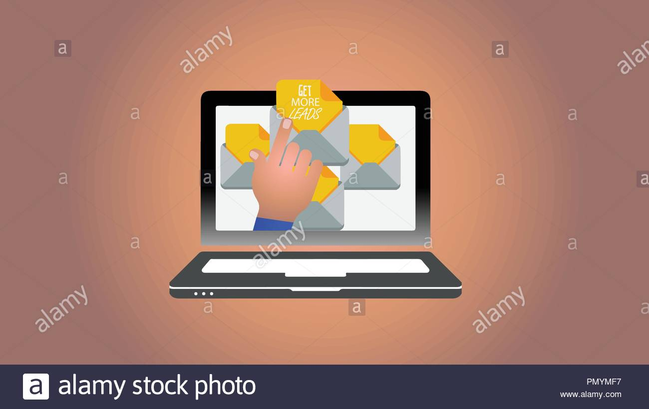 Get More Leads. Concept meaning Look for new clients - Stock Vector
