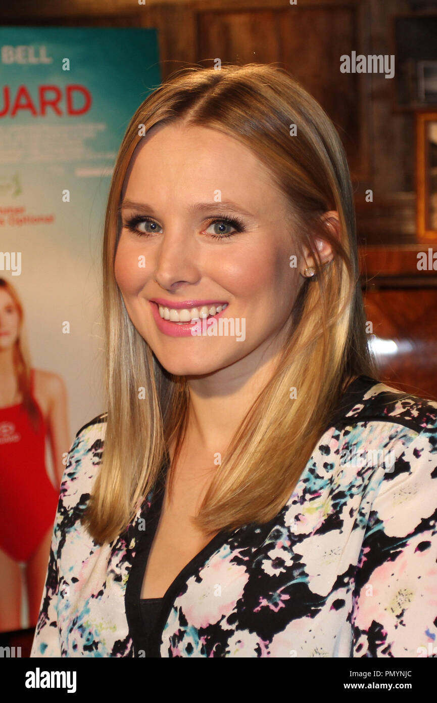 Kristen Bell  08/05/2013 'The Lifeguard' Press Day held at Soho House in West Hollywood, CA Photo by Izumi Hasegawa / HollywoodNewsWire.net - Stock Image