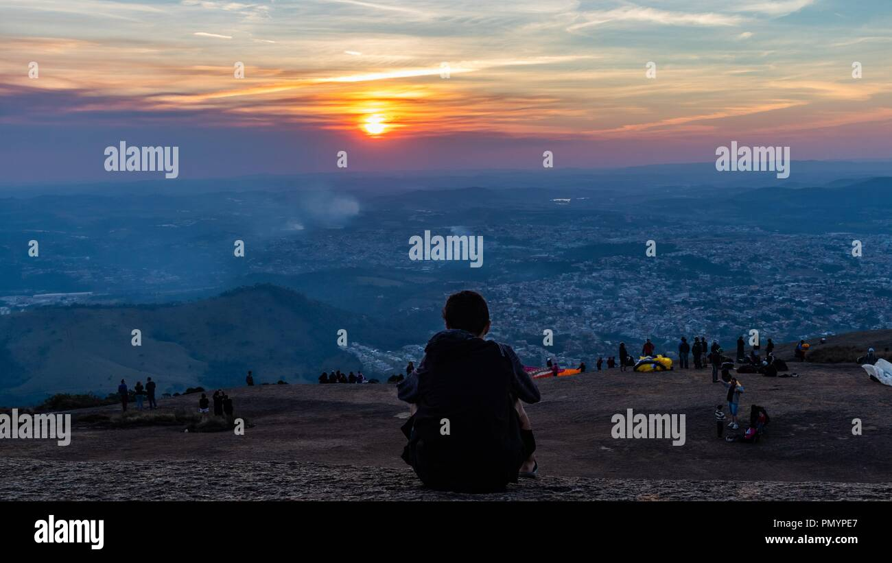 Pedra Grande Sunset in Brazil - Stock Image