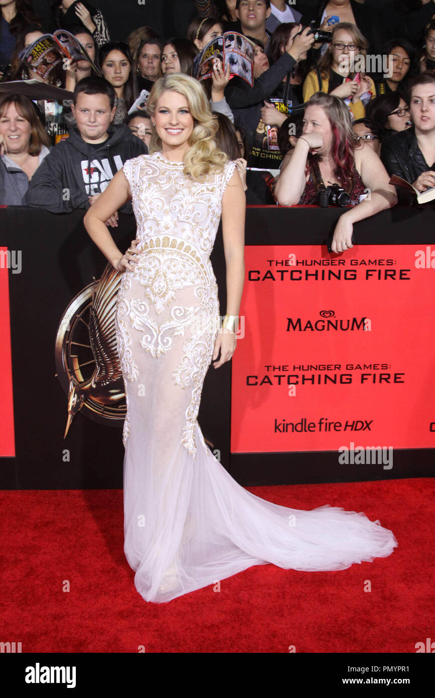 Stephanie Leigh Schlund at the US Premiere of Lionsgate's 'The Hunger Games: Catching Fire