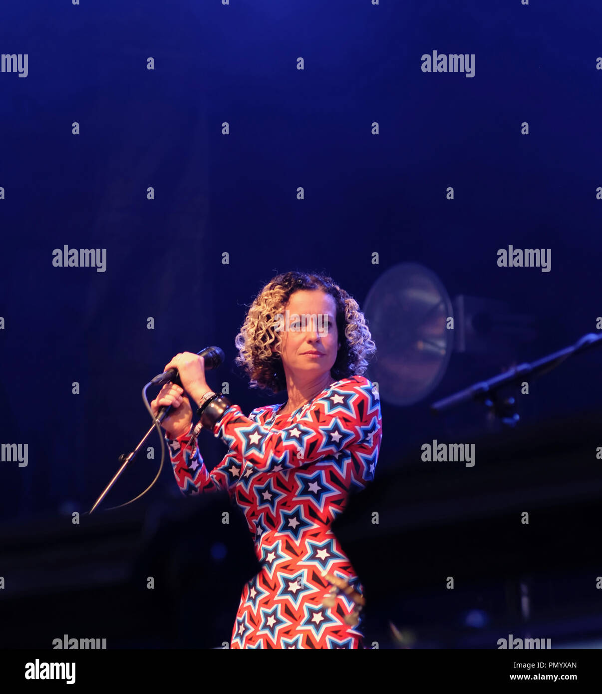 Music, Vocals, Folk singer Kate Rusby at the 2018 Fairport's Cropredy Convention. - Stock Image