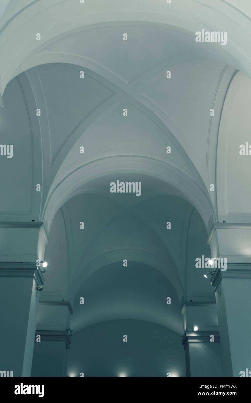 Cross vault ceiling, Naples, Italy - Stock Image