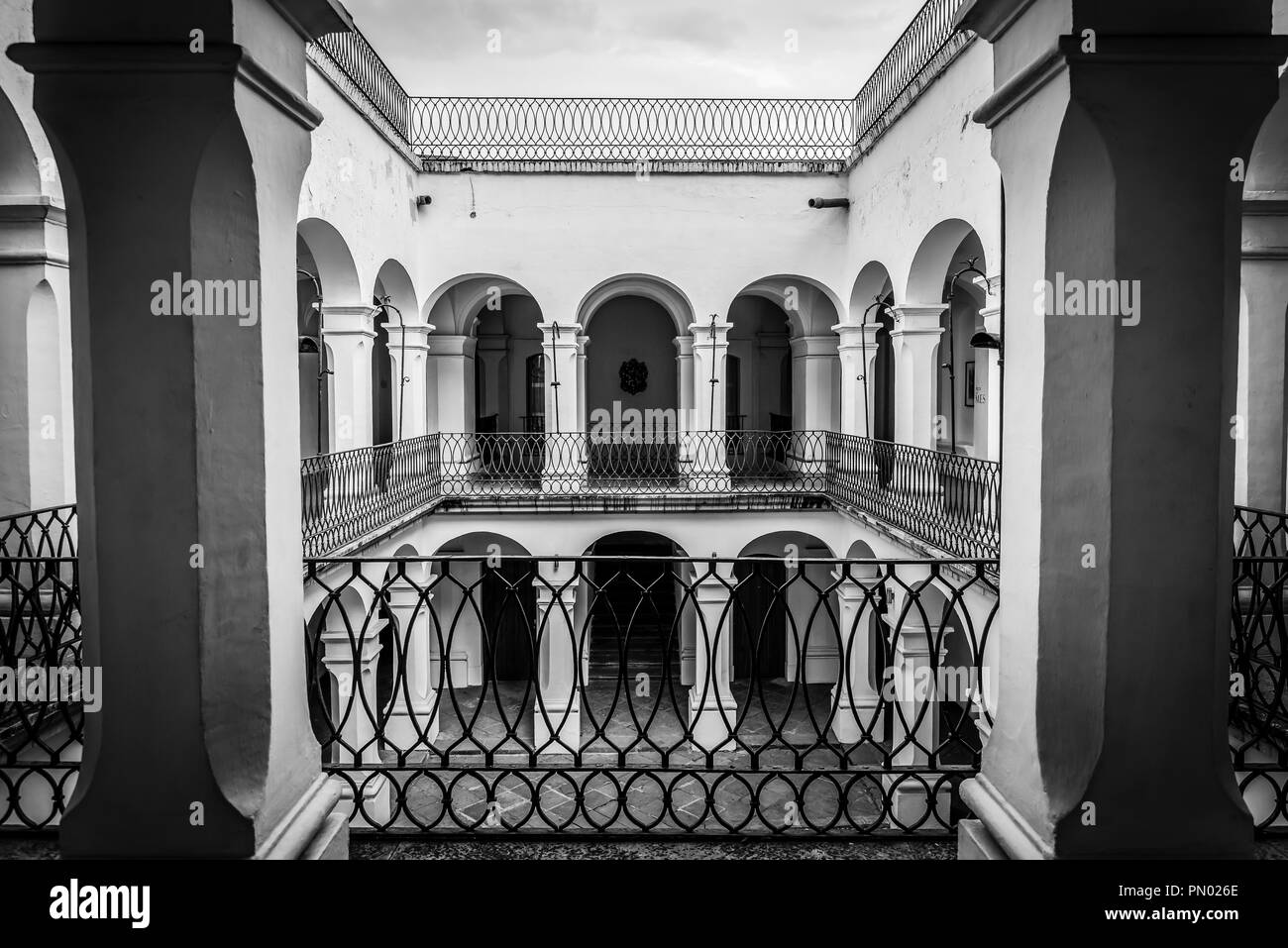 Spanish colonial architecture, Museum of Oaxacan Painters, Oaxaca, Mexico - Stock Image