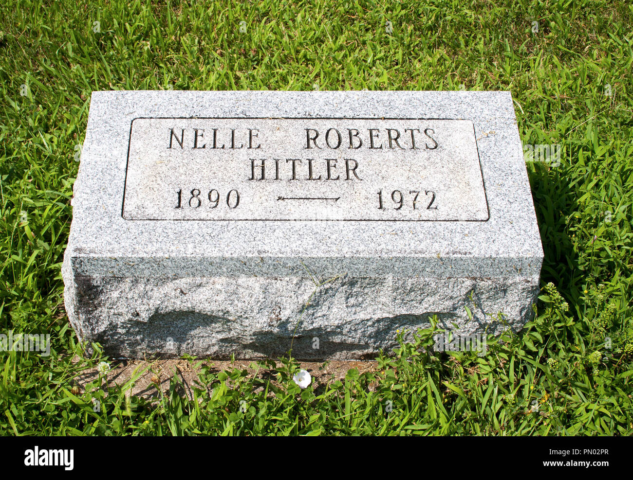 Hitler Ludwig cemetery in Circleville Ohio - Stock Image