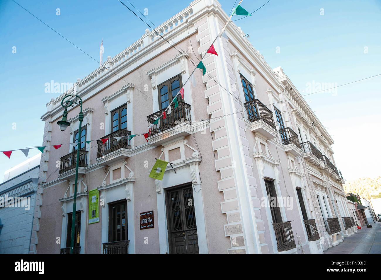 Museo de Culturas Populares e Indígenas de Sonora Hermosillo, Sonora.  (Photo: Luis Gutierrez /NortePhoto)   pclaves: Fachada, outdoors,  antiguo, arq Stock Photo