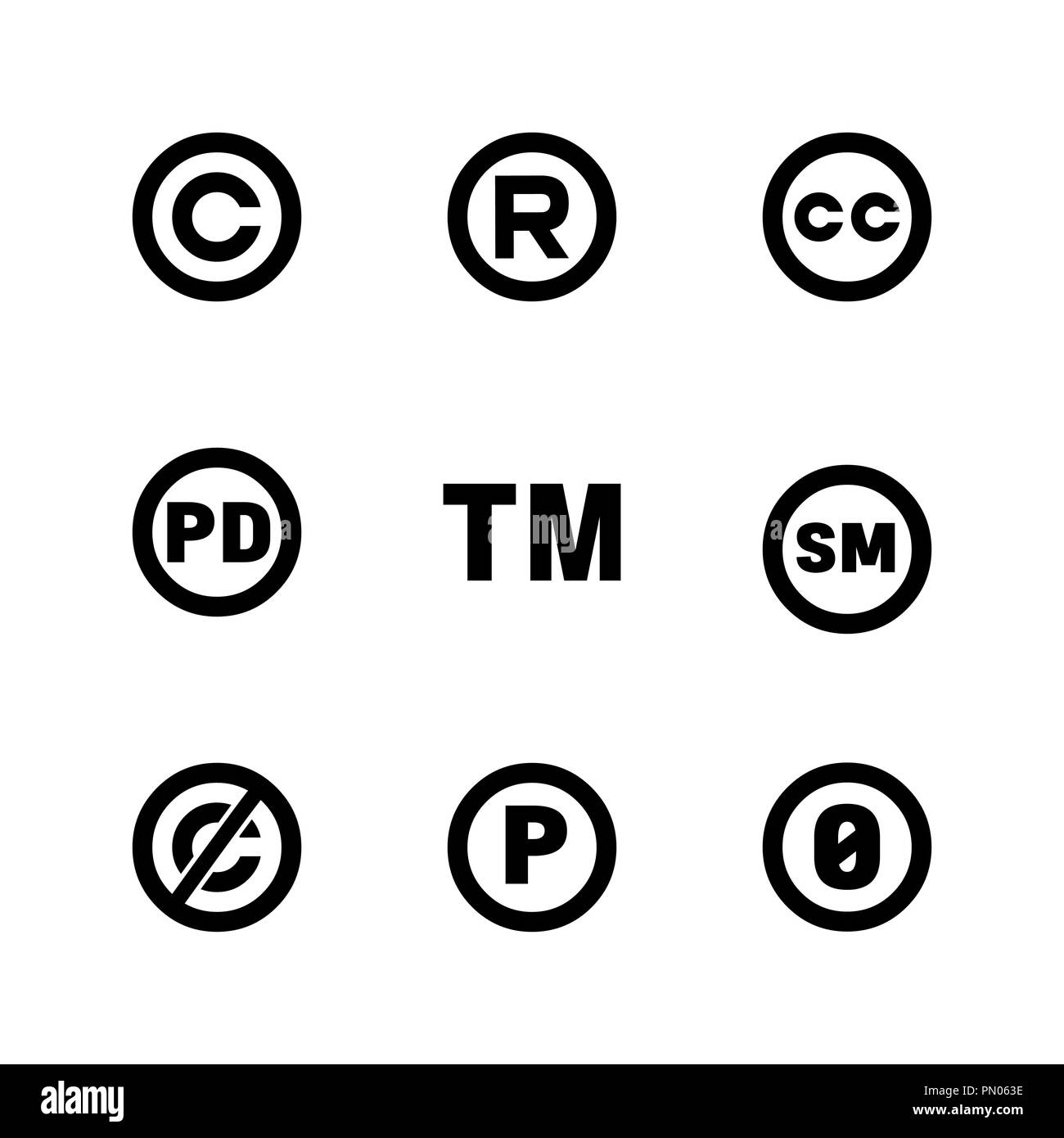 Trademark Symbol Black And White Stock Photos Images Alamy