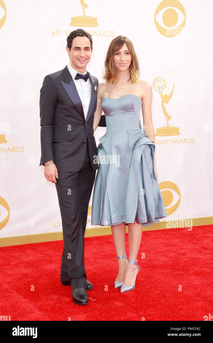 Zac Posen and Gia Coppola at the 65th Primetime Emmy Awards held at the Nokia Theatre L.A. Live  in Los Angeles, CA, on September 22, 2013. Photo by Joe Martinez / PictureLux - Stock Image