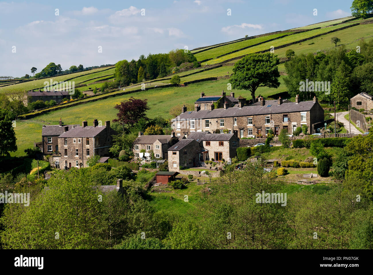 Hayfield Cottages - Stock Image