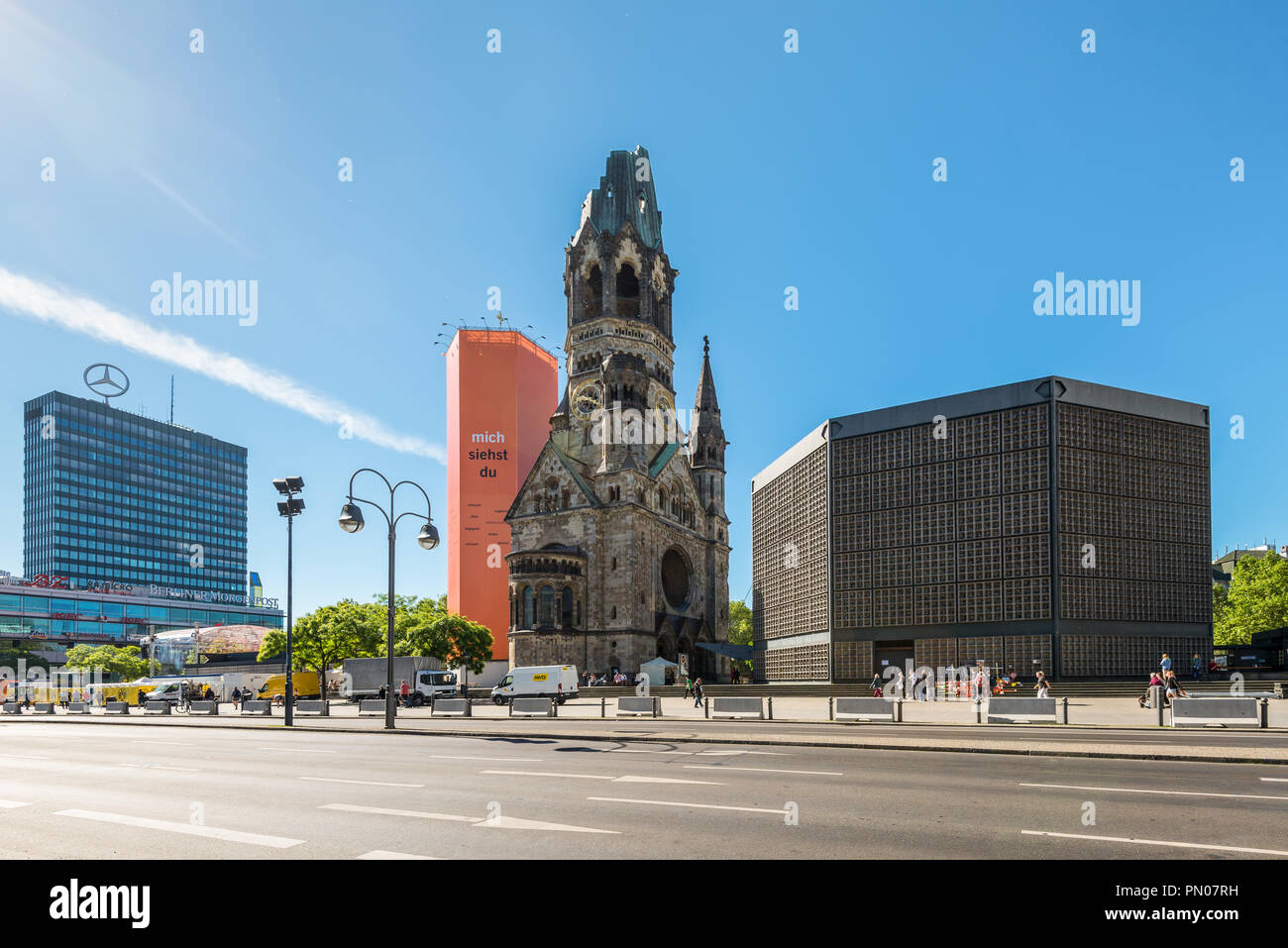 Berlin Germany May27 2017 Kaiser Wilhelm Kirche Broken Spire