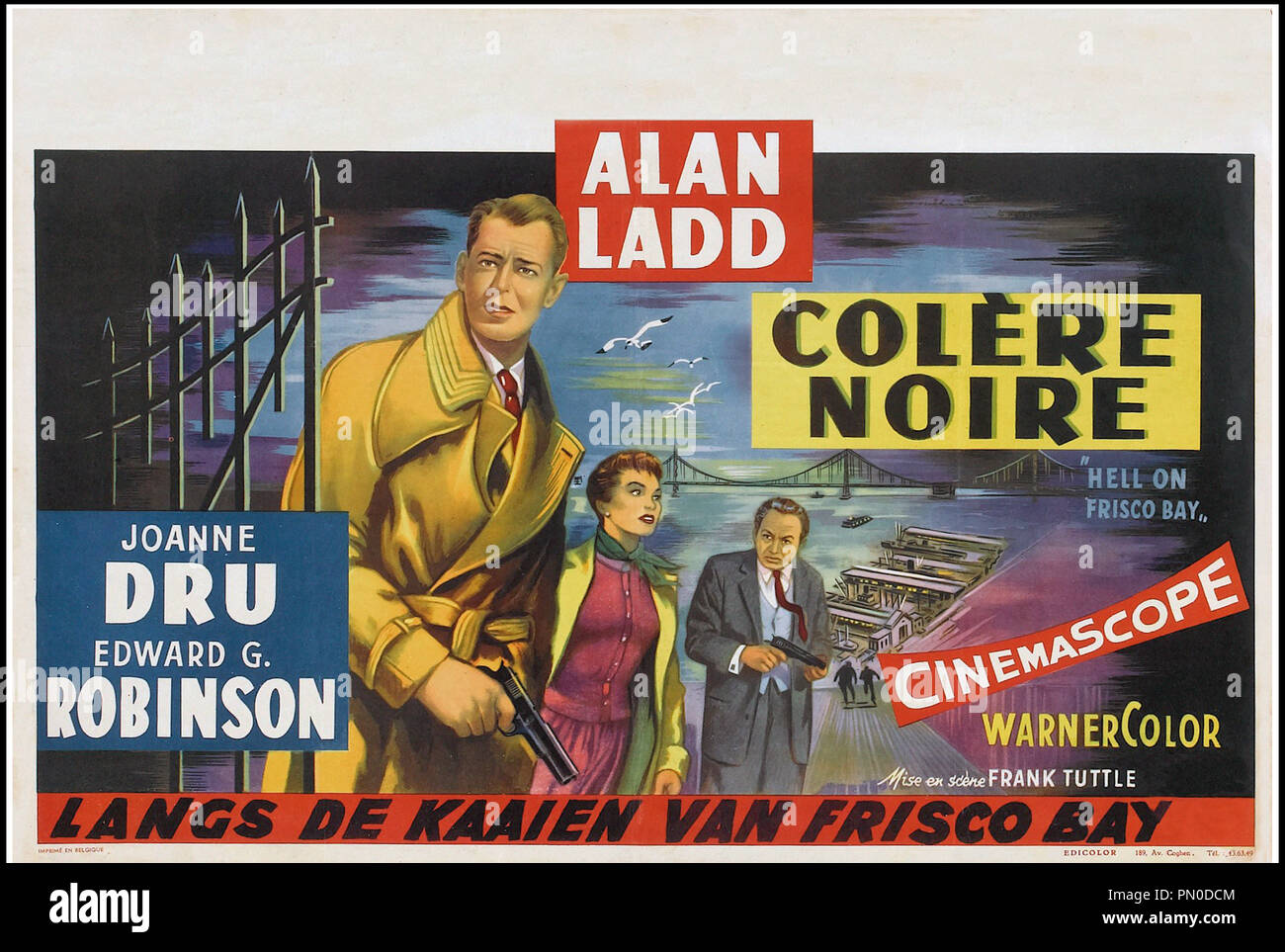 Hell on Frisco Bay Alan Ladd Edward G Robinson movie poster print 2