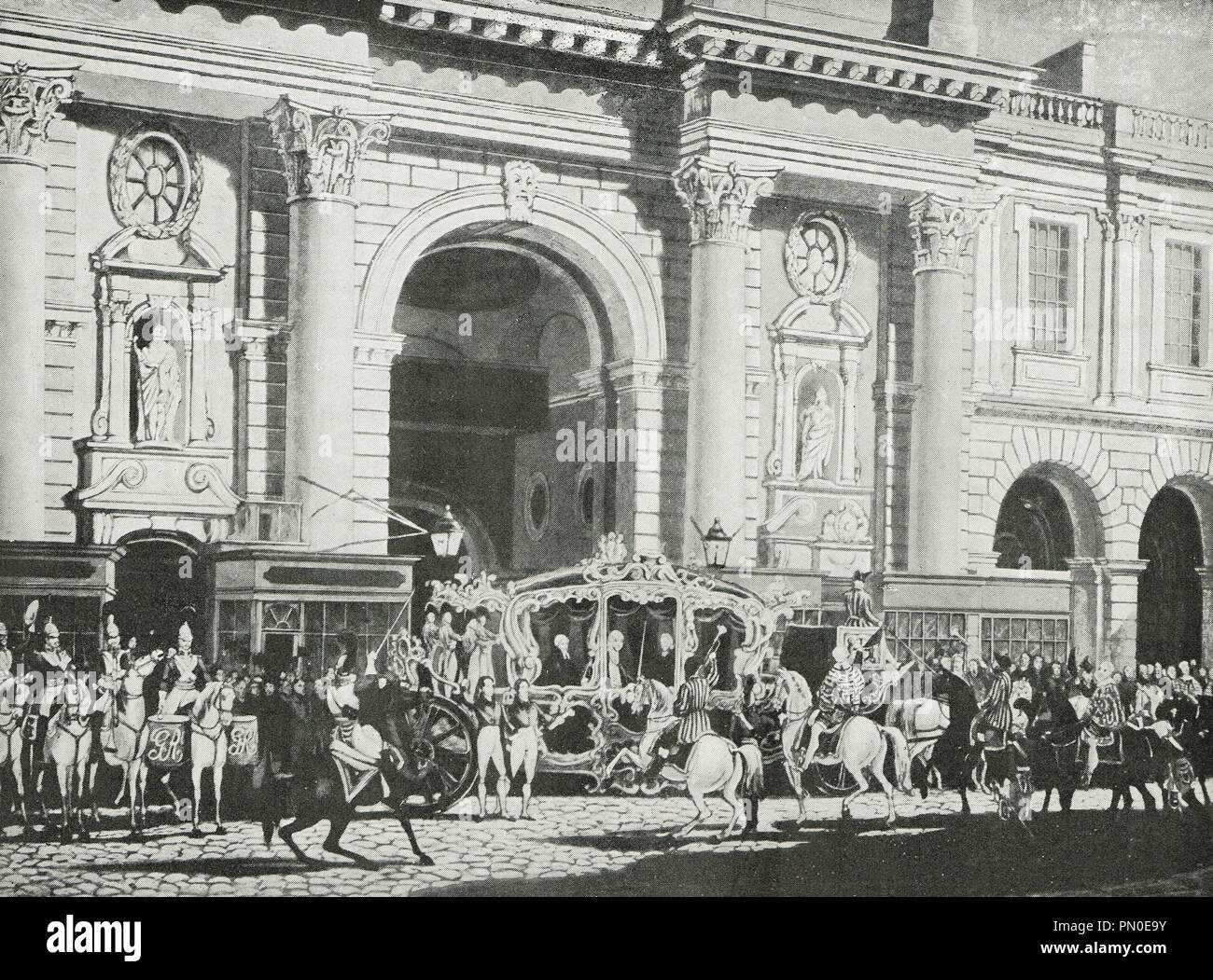 Proclamation of King George IV, at the Royal Exchange, 31 January 1820 - Stock Image
