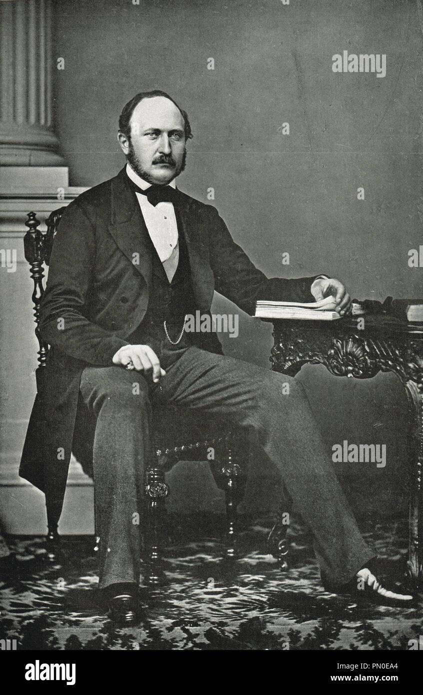 The last portrait taken of Prince Albert, Albert, Prince consort of Queen Victoria by Vernon Heath - Stock Image