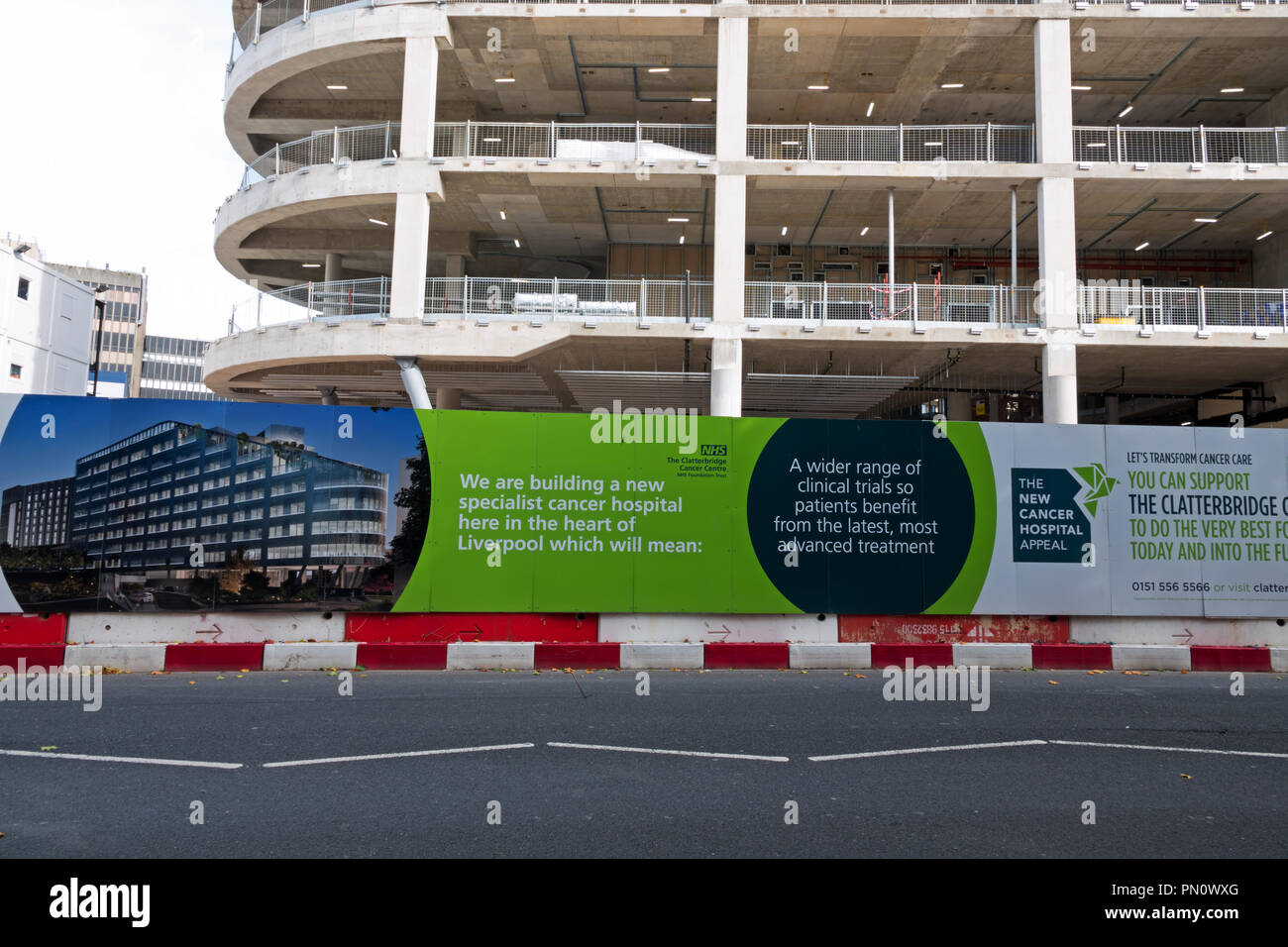 The new Clatterbridge Cancer Centre Liverpool being built next to the new Royal Liverpool University Hospital. - Stock Image